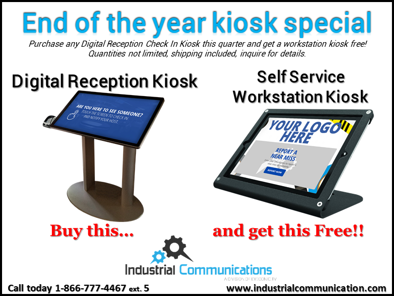 Buy a Check in kiosk, get a free workstation kiosk